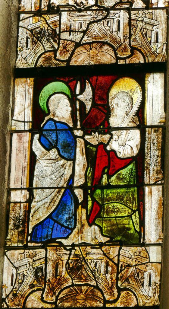 Apôtres Mathias et Simon. Arbre de Jessé, Baie 4, chapelle Saint-Fiacre, Le Faouët, photographie lavieb-aile.