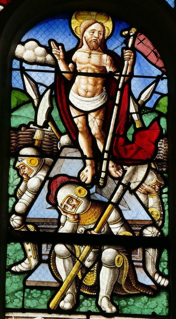 Résurrection, Passion de la maîtresse-vitre de la chapelle saint-Fiacre, Le Faouët, photographie lavieb-aile