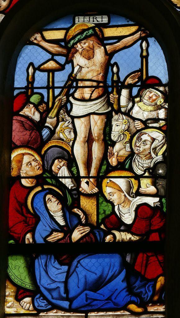 Crucifixion,  Passion de la maîtresse-vitre de la chapelle saint-Fiacre, Le Faouët, photographie lavieb-aile