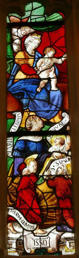 Verrière de la Sainte Parenté, Chapelle Saint-Fiacre, Le Faouët, photo lavieb-aile.