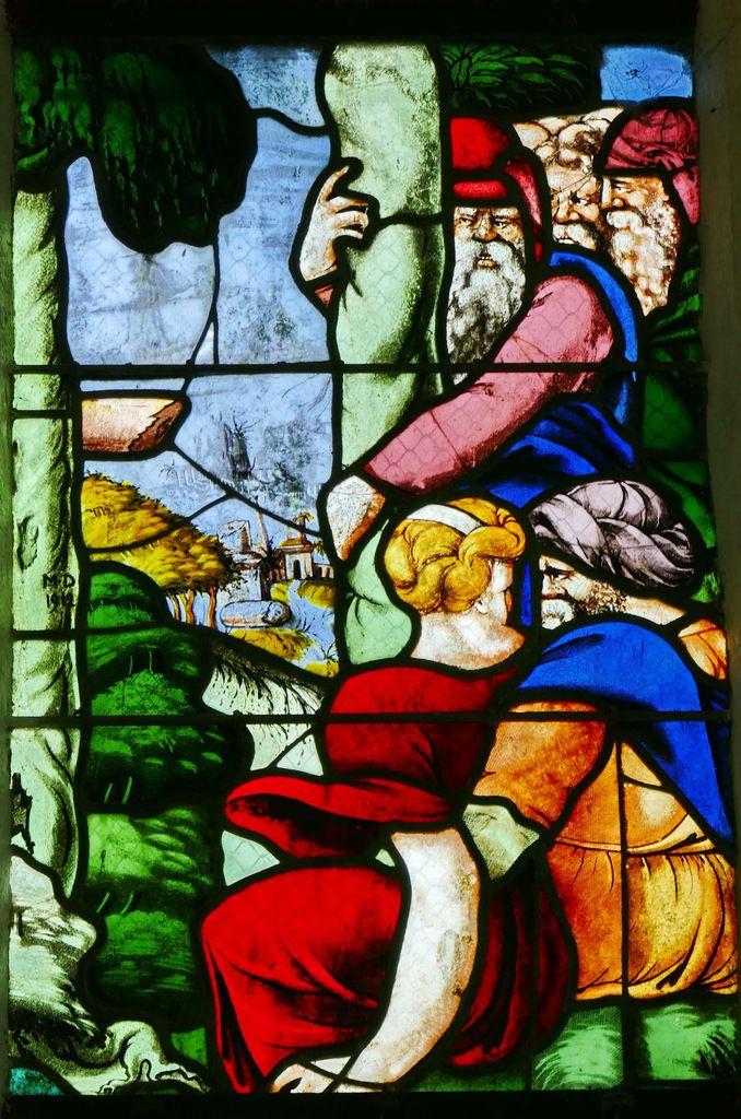 Verrière de la Vie de saint Jean-Baptiste, Chapelle Saint-Fiacre, Le Faouët, photographies lavieb-aile.