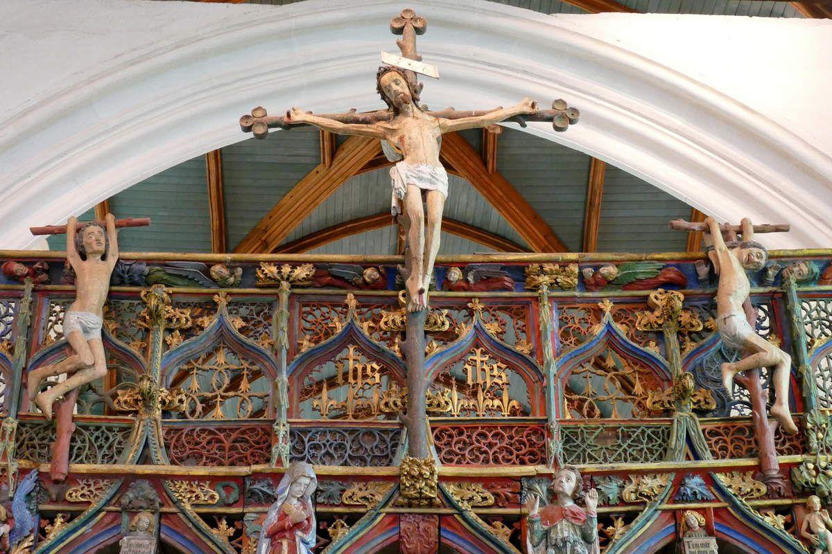 Crucifixion, Jubé de Saint-Fiacre, Le Faouët, photographie lavieb-aile.
