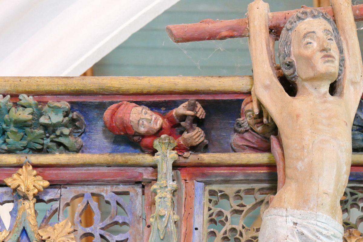 Main courante de la tribune, Jubé de Saint-Fiacre, Le Faouët, photographie lavieb-aile.