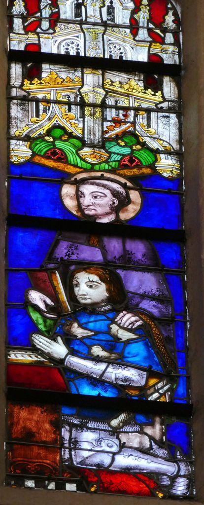 Lancette D, baie n°128, troisième travée sud de la nef, cathédrale de Quimper, photographie lavieb-aile.