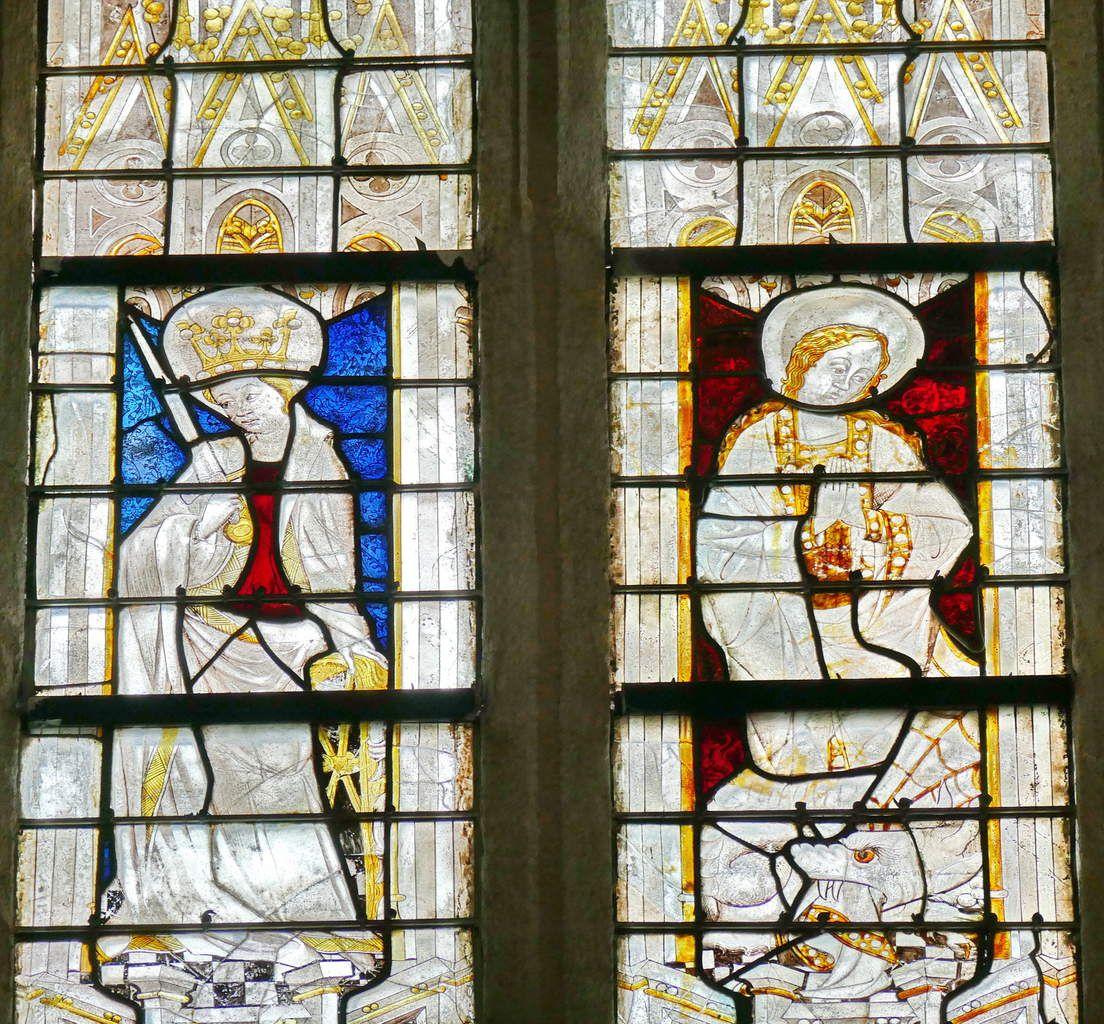 Baie n°109, 2ème travée, nord du chœur, cathédrale de Quimper, lavieb-aile.