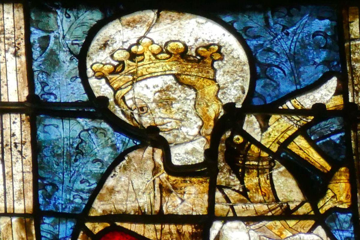 Lancette D, baie n°112, coté sud du chœur, cathédrale de Quimper, photo lavieb-aile.