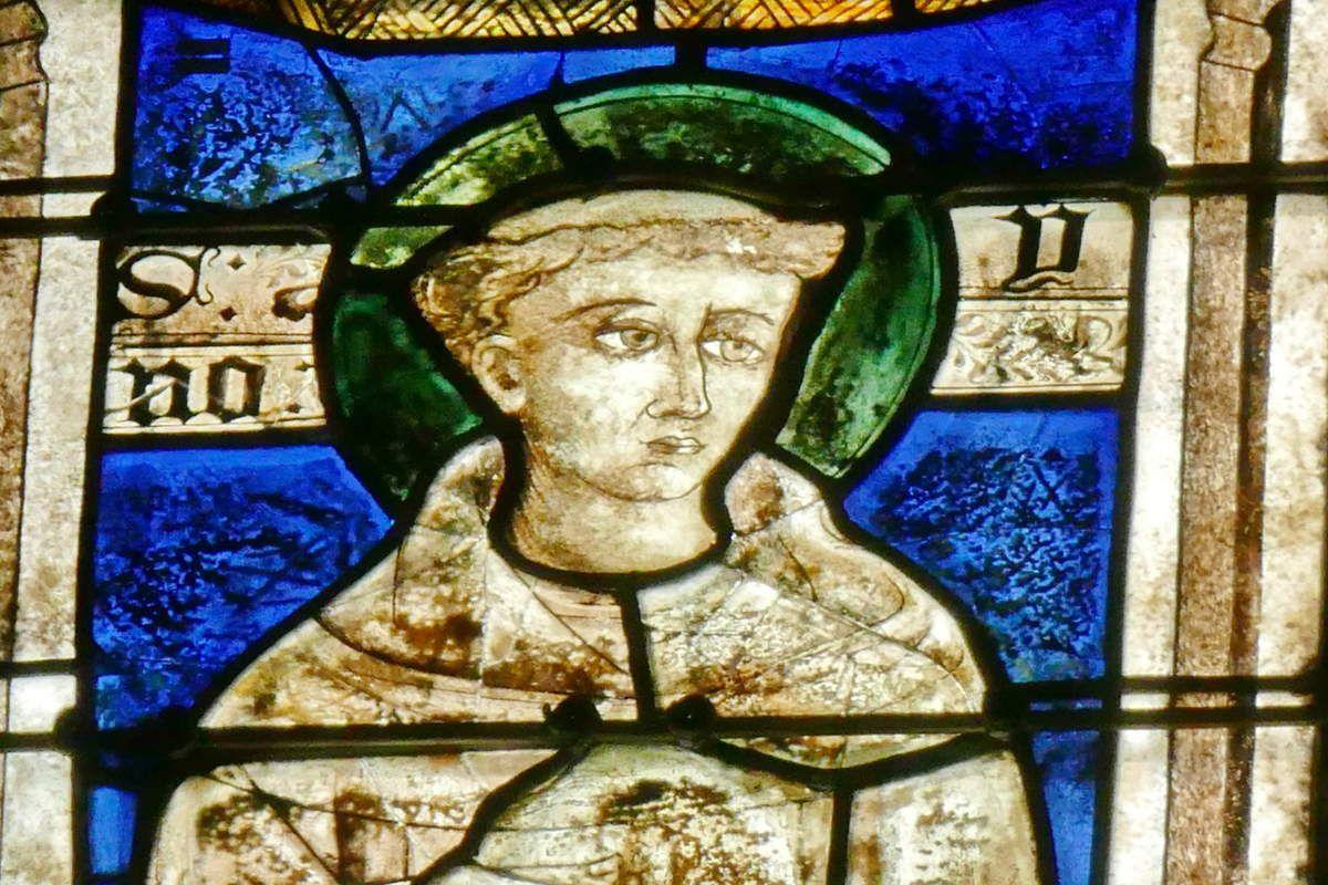 Lancette A, baie 106, chœur de la cathédrale de Quimper, photographie lavieb-aile.
