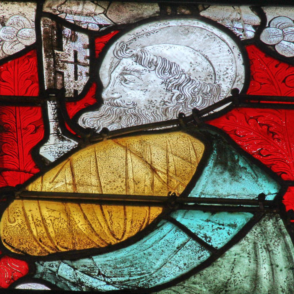 Lancette C, saint Pierre, baie 103, chœur de la cathédrale de Quimper, photo lavieb-aile.