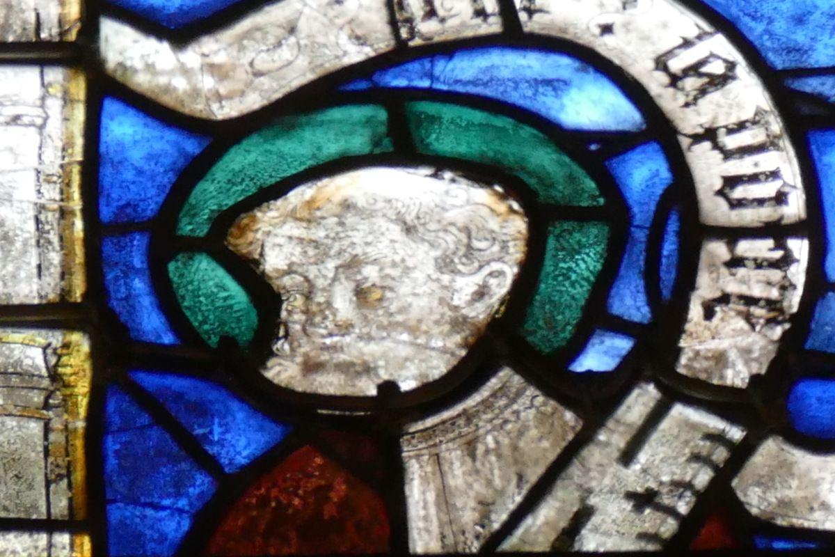 Lancette B, baie n°107, chœur de la cathédrale de Quimper, photographie lavieb-aile.