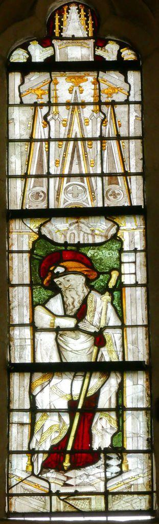 Saint Jacques, lancette B, baie n°111, coté nord du chœur de la cathédrale de Quimper, photographie lavieb-aile.