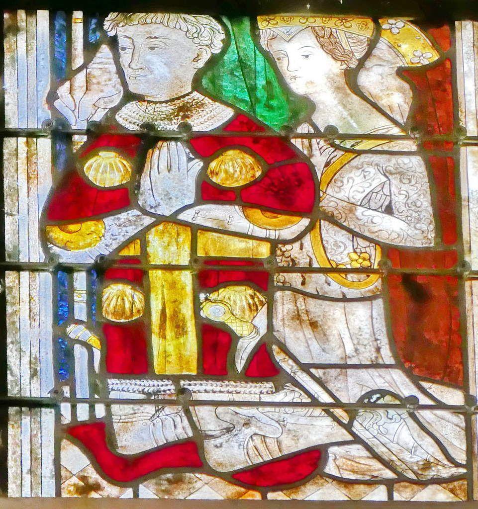 Lancette C,  baie n°104 du rond-point du chœur de la cathédrale de Quimper, photographie lavieb-aile.