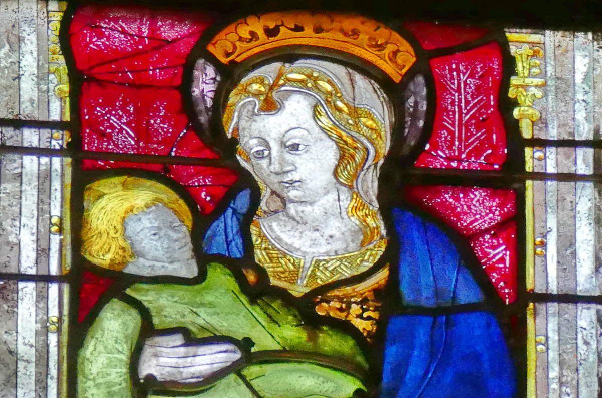 Lancette D, baie n°105, chœur de la cathédrale de Quimper, photographie lavieb-aile