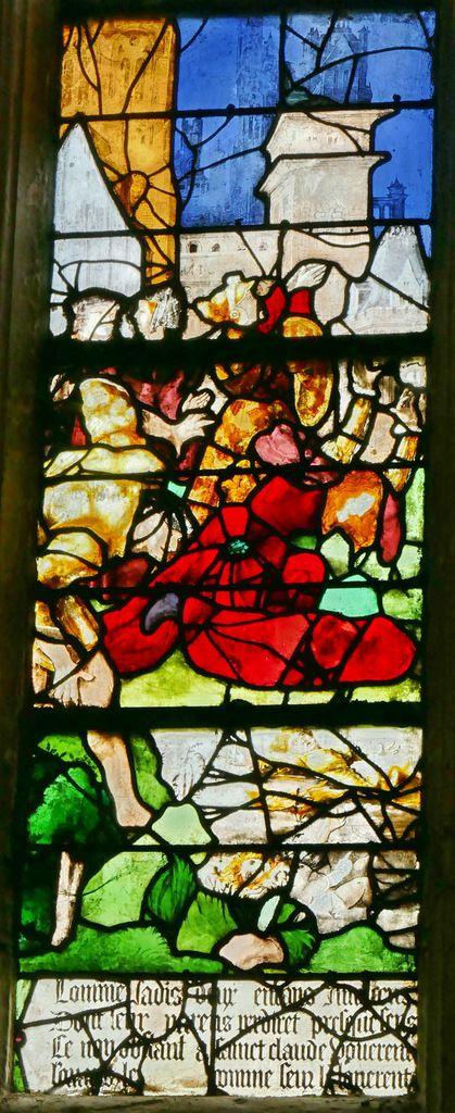 Lancette C , registre inférieur, baie n°9, église Saint-Étienne de Beauvais, photographie lavieb-aile.