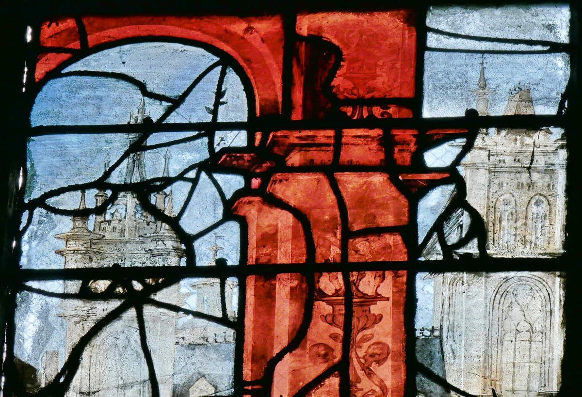 Lancette A (détail), registre supérieur, baie n°9, église Saint-Étienne de Beauvais, photographie lavieb-aile.