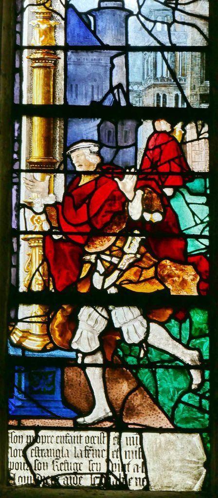 Lancette B, registre inférieur,  baie n°9, église Saint-Étienne de Beauvais, photographie lavieb-aile.