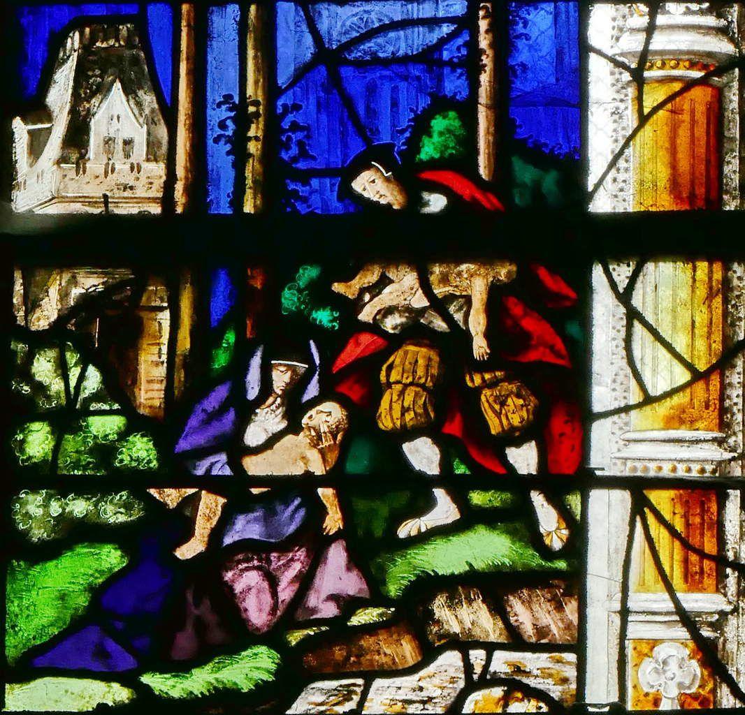Lancette D , registre inférieur, baie n°9, église Saint-Étienne de Beauvais, photographie lavieb-aile.