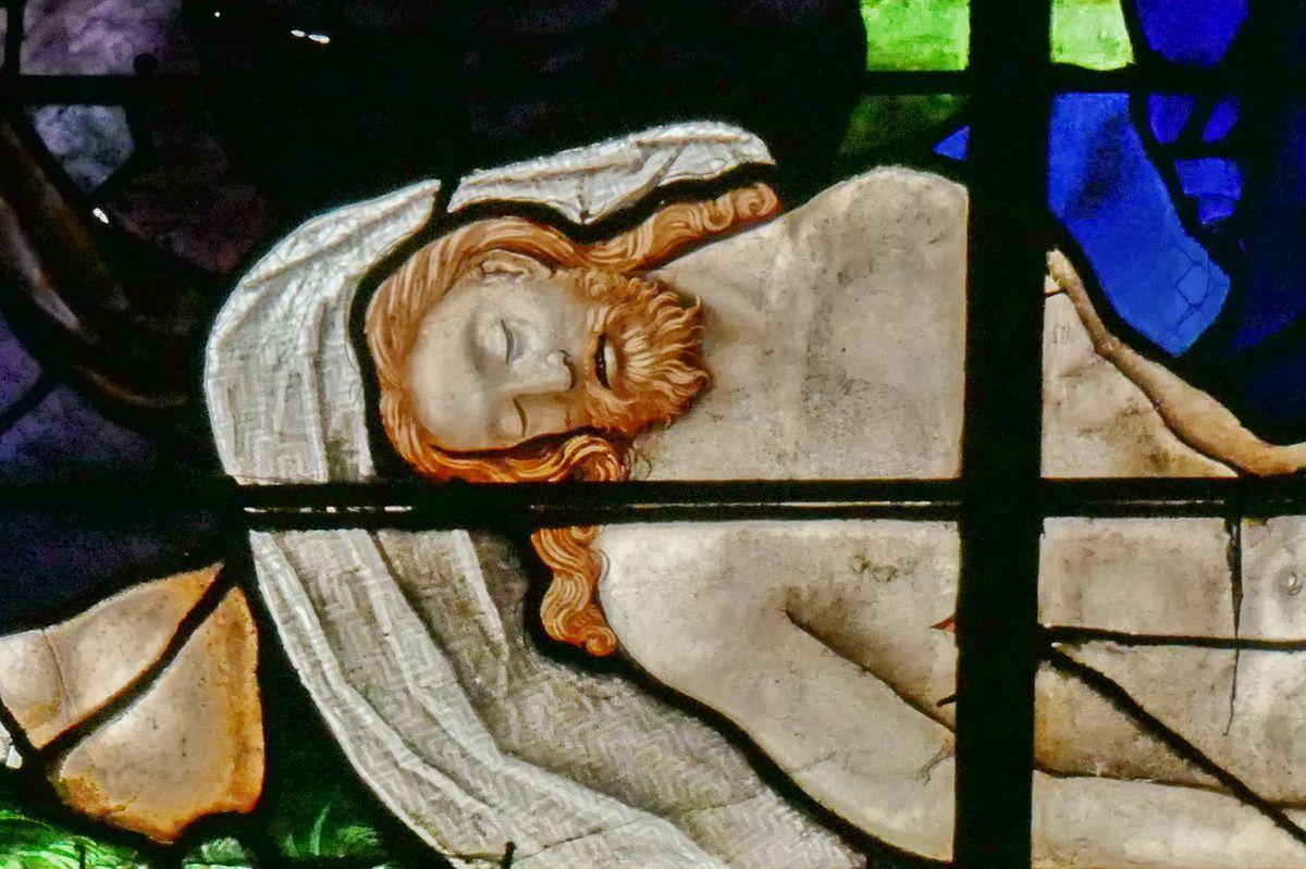 Baie n°0, chapelle axiale du chœur de l'église Saint-Étienne de Beauvais, photographie lavieb-aile.