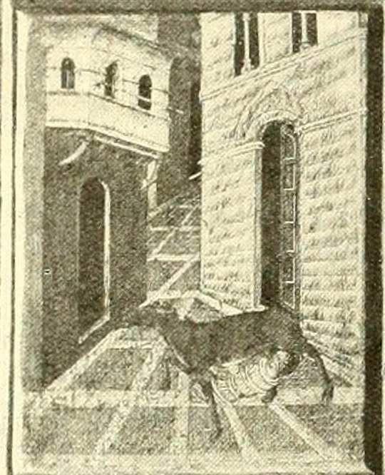 Étienne nourri par une biche, prédelle de l'église Saint-Étienne de Sienne.