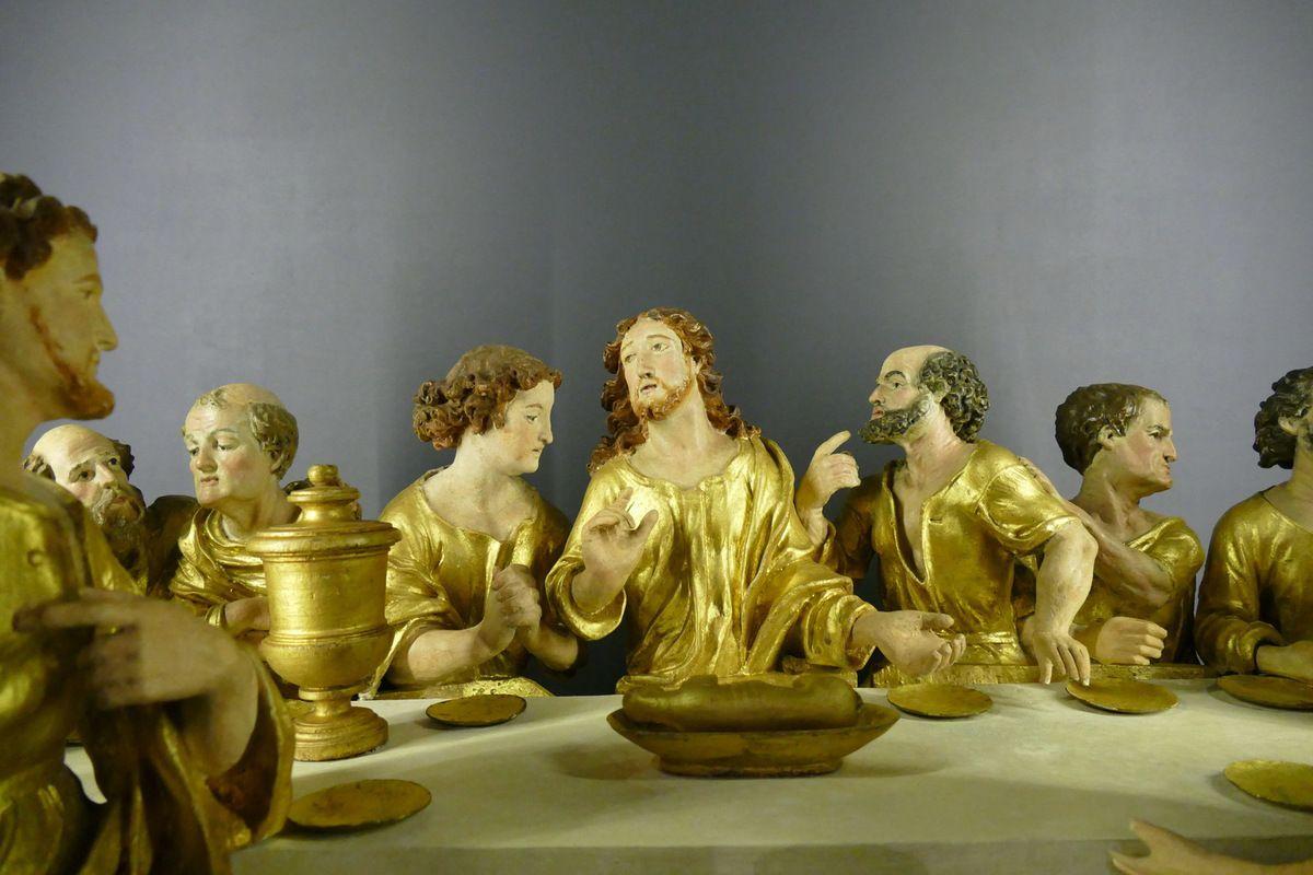 La Cène (1590), bois polychrome, Collégiale de Pont-Croix (29), photographie lavieb-aile.