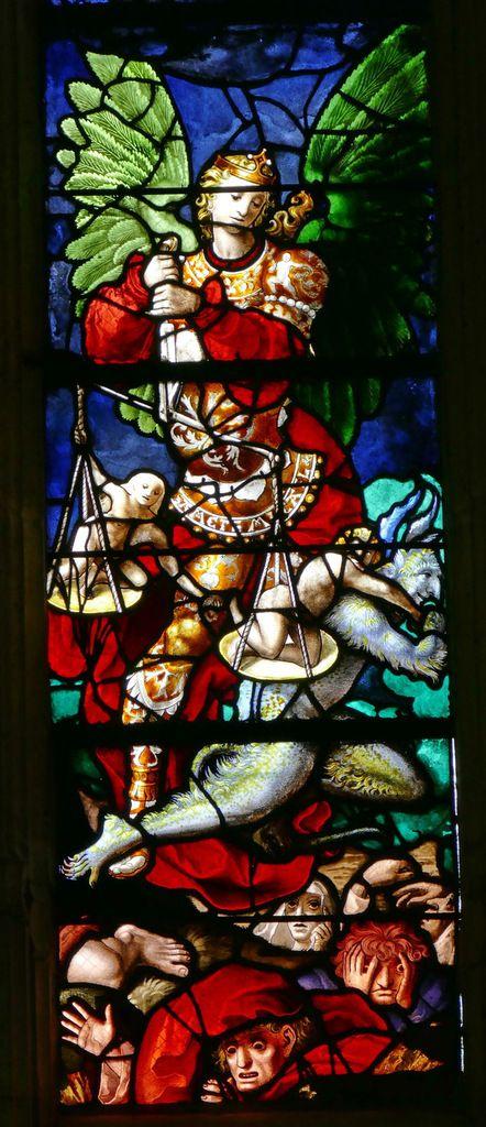 Lancette B, registre inférieur, baie n°6 du Jugement Dernier, église Saint-Étienne de Beauvais, photographie lavieb-aile.