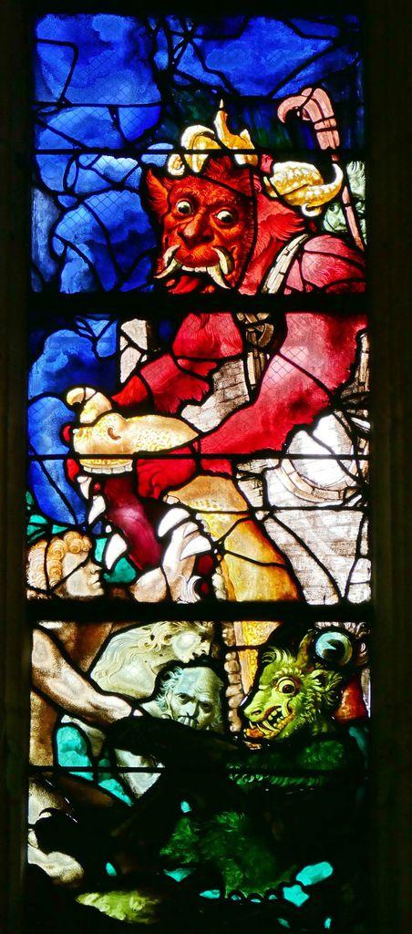 Lancette C, registre inférieur, baie n°6 du Jugement Dernier, église Saint-Étienne de Beauvais, photographie lavieb-aile.