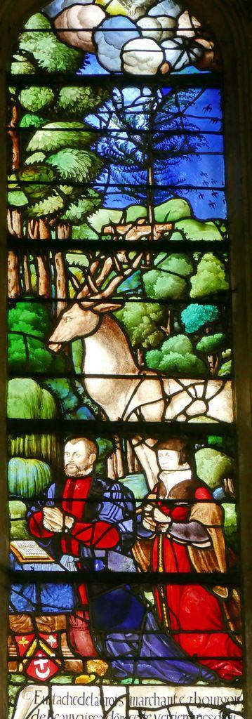 Baie n°18, Vie de saint Eustache, église Saint-Étienne de Beauvais, photographie lavieb-aile.