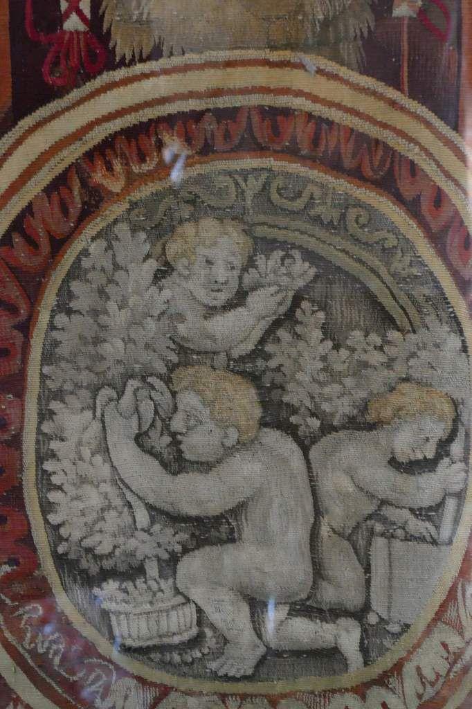 Mois d'Août, la Vierge, tenture des Mois Lucas, Laine et soie, basse lisse, Manufacture des Gobelins atelier Souet 1712-1714, in château de Chenonceau. Photographie lavieb-aile.