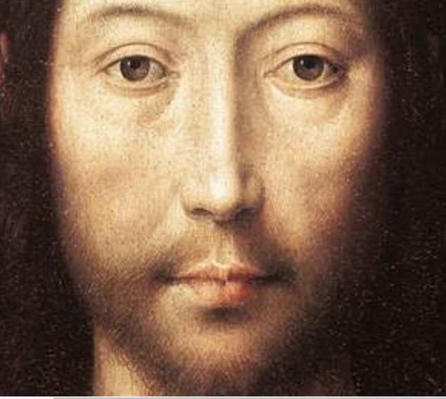 Hans Memling, Le Christ bénissant (détail), 1481, Fine Museum of arts, Boston, https://commons.wikimedia.org/wiki/File:Memling_Christ_giving_blessing.jpg
