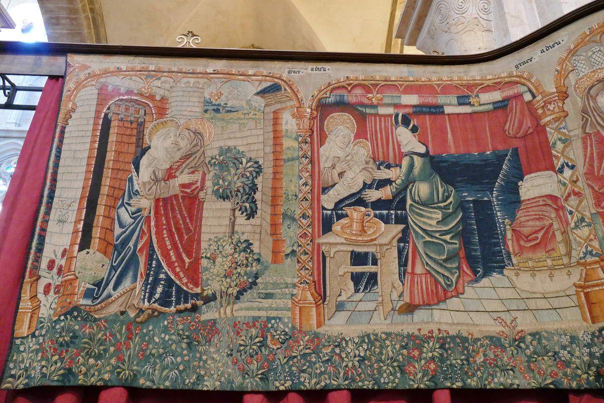Première pièce, Tenture de la Vie de la Vierge, église Notre-Dame, Beaune. Photographie lavieb-aile.