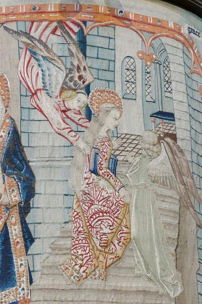 Scène n° 3, Présentation de la Vierge au Temple, Tenture de la Vie de la Vierge, église Notre-Dame, Beaune. Photographie lavieb-aile.