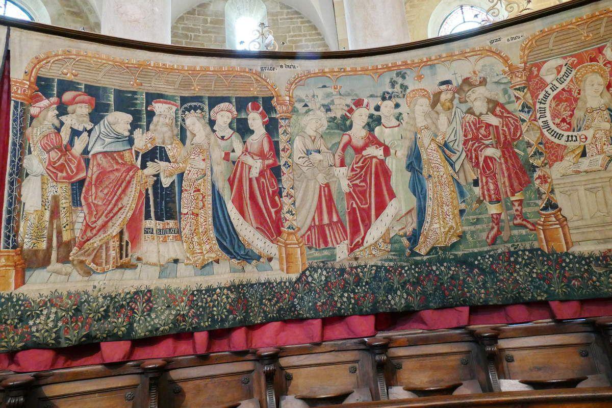 Deuxième pièce, Tenture de la Vie de la Vierge, église Notre-Dame, Beaune. Photographie lavieb-aile.
