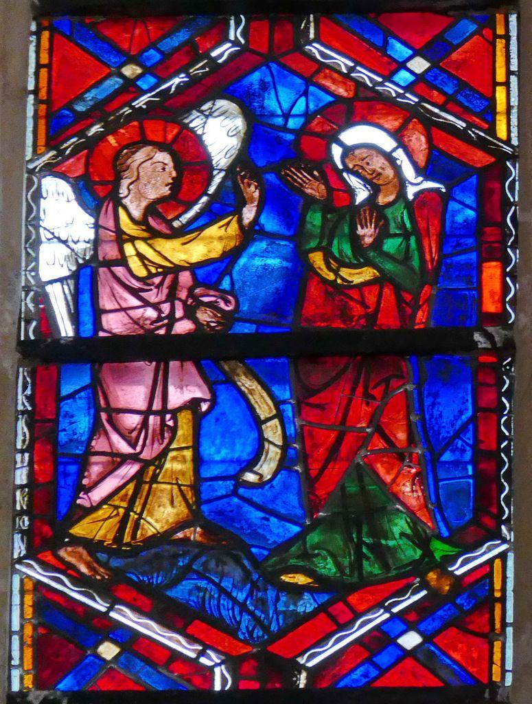 Annonciation, baie 202, Arbre de Jessé et Enfance du Christ, cathédrale Saint-Gatien de Tours, photographie lavieb-aile.