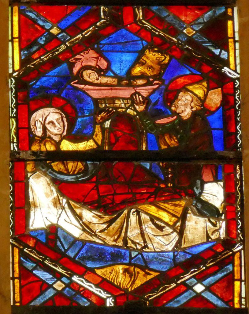 Nativité, baie 202, Arbre de Jessé et Enfance du Christ, cathédrale Saint-Gatien de Tours, photographie lavieb-aile.