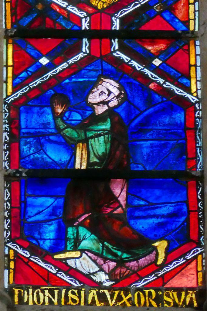 La donatrice Denise, baie 202, Arbre de Jessé et Enfance du Christ, cathédrale Saint-Gatien de Tours, photographie lavieb-aile.