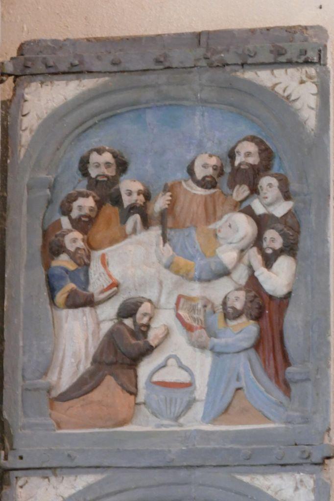 Dormition de la Vierge,  Retable de la Trinité, Notre-Dame du Crann (Spézet), photographie lavieb-aile.