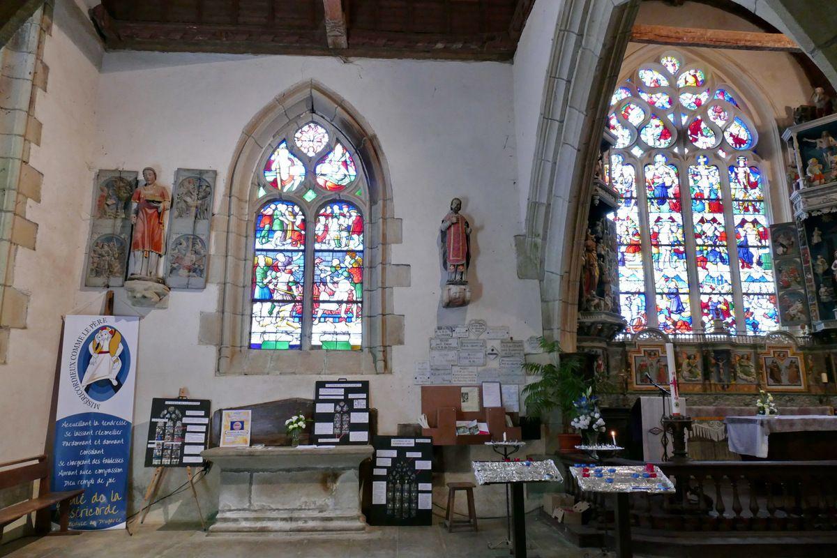 Verrière de saint Laurent, chapelle Notre-Dame-du-Crann à Spézet, photographie lavieb-aile.