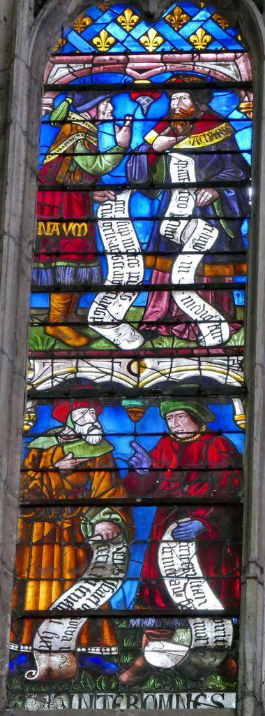 Registre inférieur de la lancette A, Arbre de Jessé, cathédrale de Sens, photographie lavieb-aile.