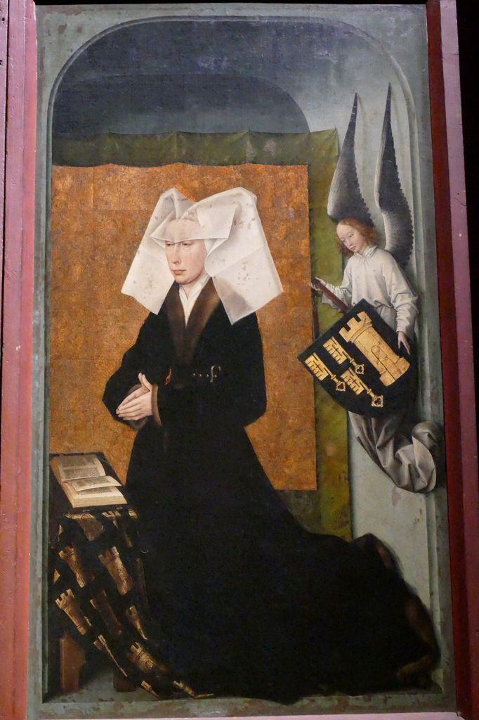 Guigone de Salins,  volets du Polyptyque du Jugement Dernier, Hospices de Beaune, photographie lavieb-aile.