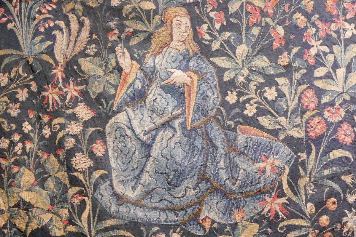 Tapisserie de la Vierge et de saint Éloi, Hospices de Beaune, photographie lavieb-aile.