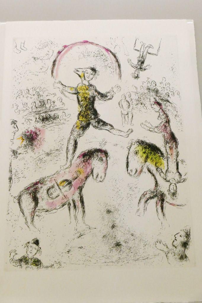 """Marc Chagall, eau-forte,  in """"Celui qui dit les choses sans rien dire"""" , Maeght éditeur, 1976. Photographie lavieb-aile lors de l'exposition de la Fondation Hélène et Édouard  Leclerc à Landerneau."""