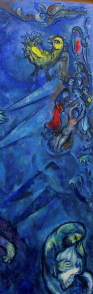 Marc Chagall,  La Lutte de Jacob avec l'ange (détail), Message Biblique, Musée Marc Chagall, Nice
