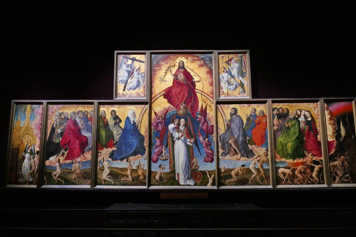 Rogier van der Weyden, Polyptyque du Jugement Dernier (1445_1450), Hospices de Beaune, photographie lavieb-aile.