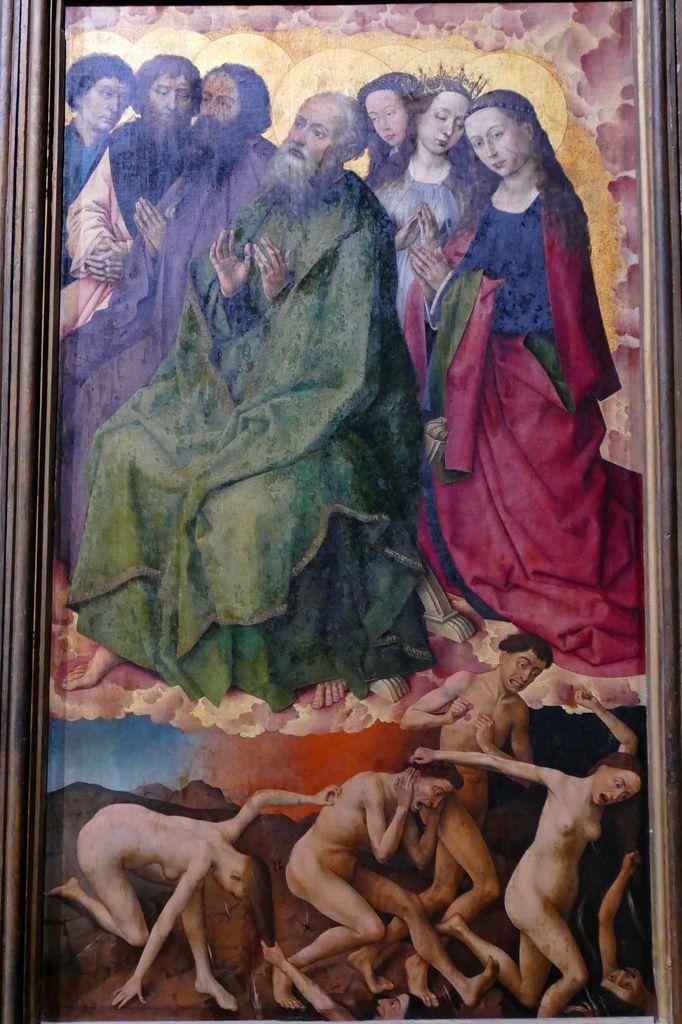 Rogier van der Weyden,  Polyptyque du Jugement Dernier (1445-1450), panneau 6,  Hospices de Beaune, photographie lavieb-aile.