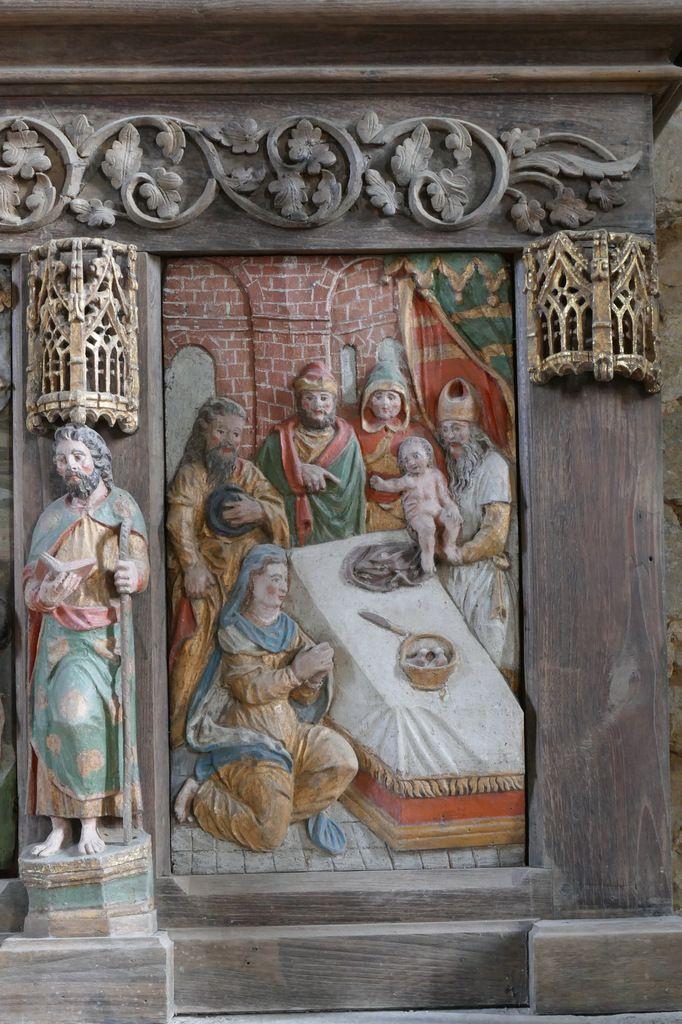 Présentation au Temple, retable du maître-autel, église Notre-Dame de Brennilis, photographie lavieb-aile.