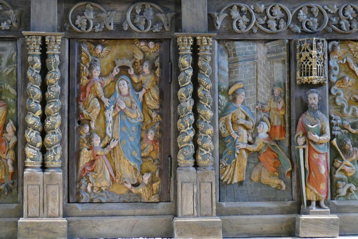Assomption et Visitation, retable du maître-autel, église Notre-Dame de Brennilis, photographie lavieb-aile.