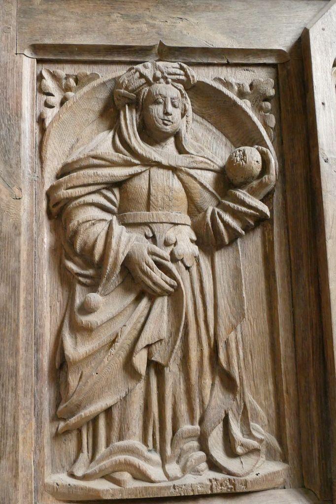 Sibylle de Cumes, autel du bas-côté Sud, église Notre-Dame de Brennilis. Photographie lavieb-aile.