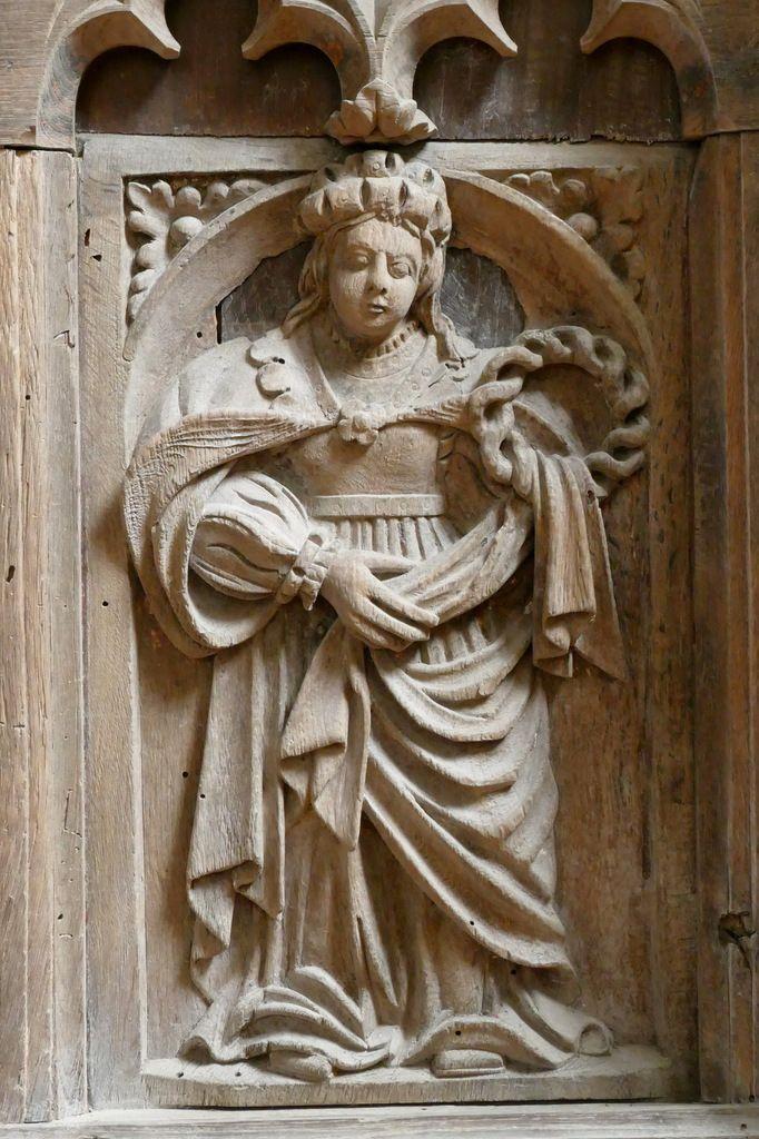 La Sibylle Delphique, autel du bas-côté Sud, église Notre-Dame de Brennilis. Photographie lavieb-aile.