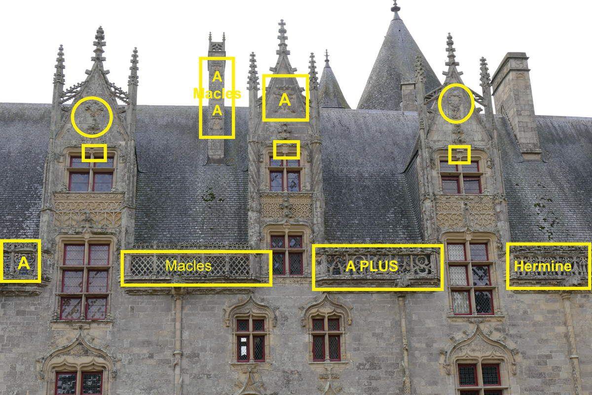 Façade du château de Josselin de L3 à L5.  Photographie lavieb-aile.