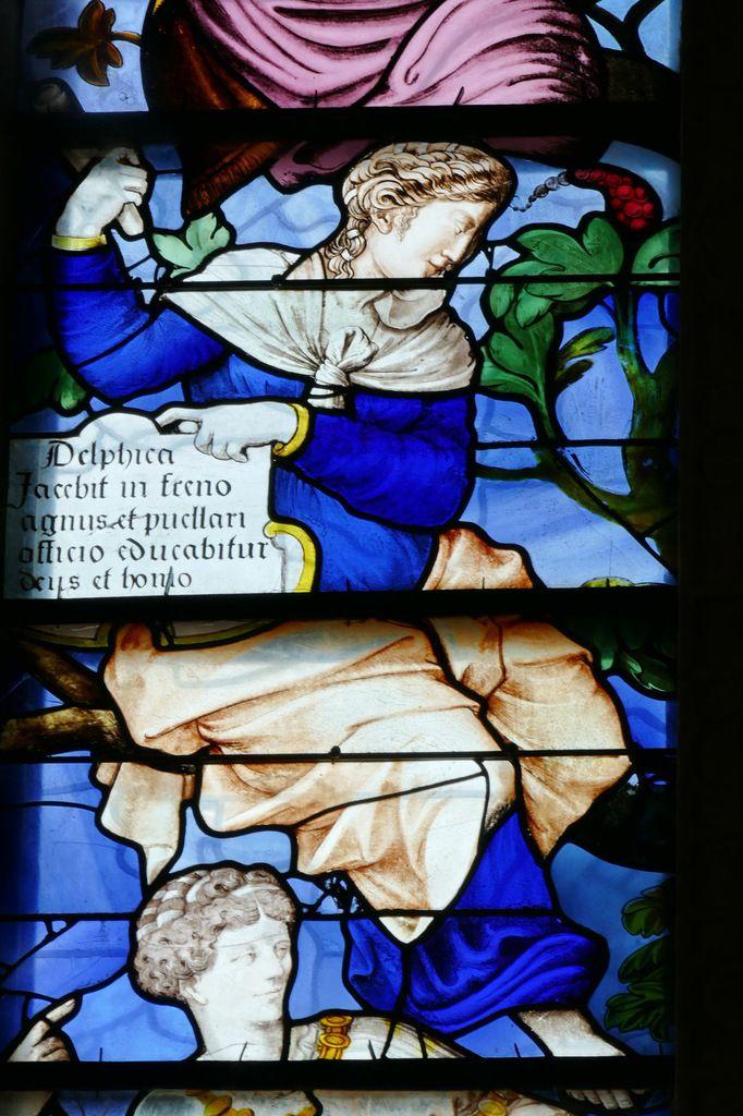 vitrail de l'Arbre aux Sibylles, Collégiale Notre-Dame-du-Fort d'Étampes. Photographie lavieb-aile.