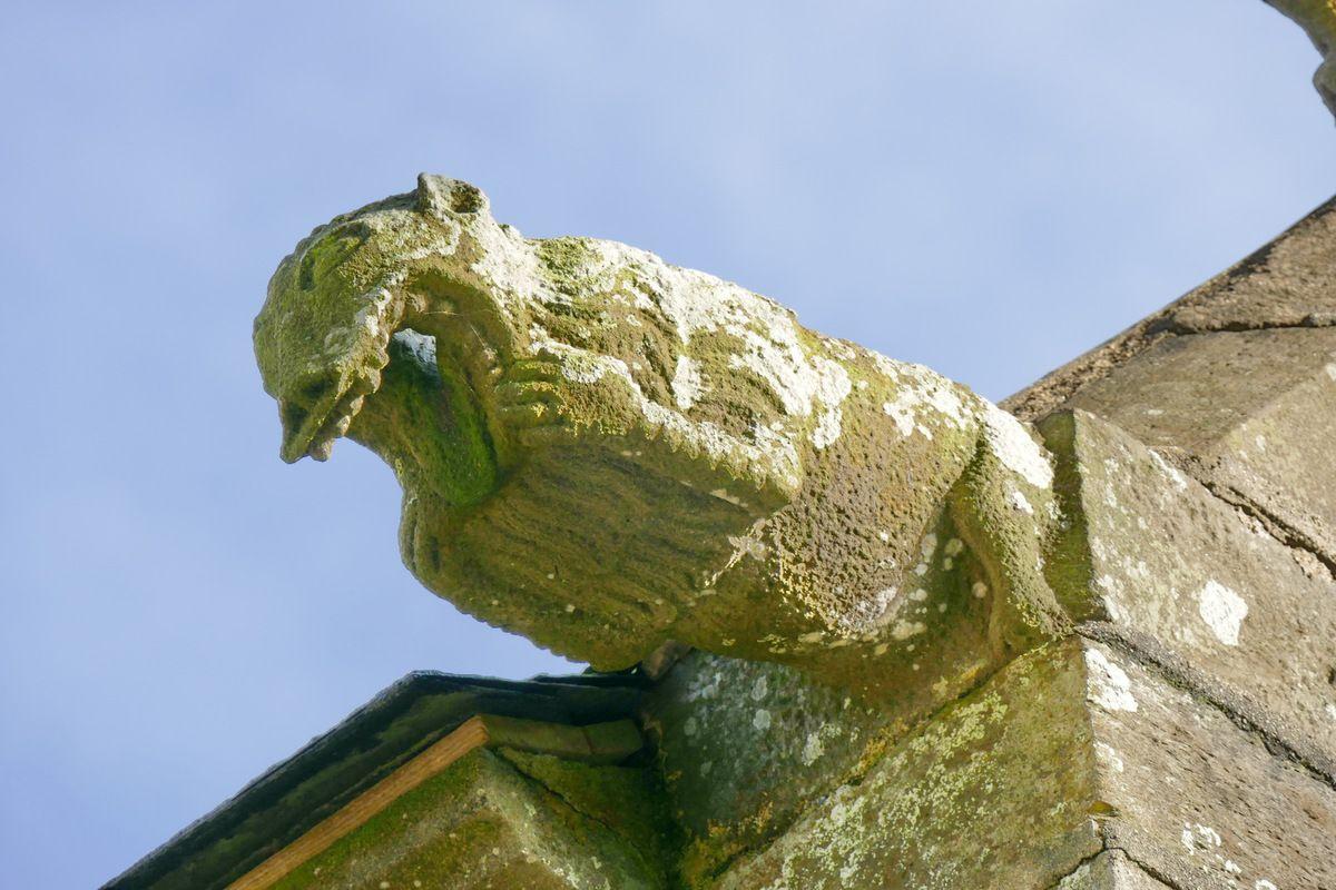 Gargouille de l'église Notre-Dame de Rumengol. Photographie lavieb-aile.